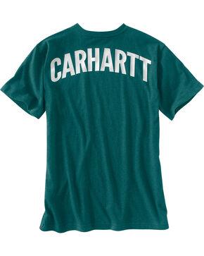 Carhartt Men's Green Maddock Block Lettering Pocket Tee - Tall, Green, hi-res