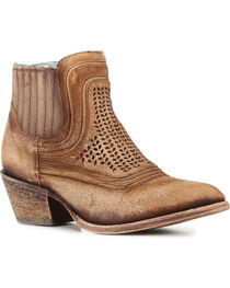 Corral Women's Laser Etched Ankle Boots - Round Toe , , hi-res