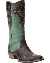 Ariat Women's Brown Zealous Barnwood Western Boots - Snip Toe , , hi-res