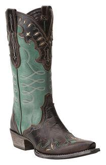 Ariat Women's Zealous Wingtip Western Boots, , hi-res