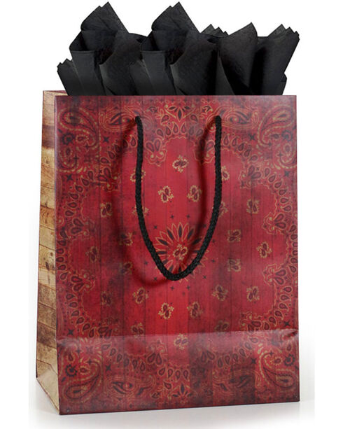 BB Ranch® American Rodeo Gift Bag with Tissue Paper, No Color, hi-res
