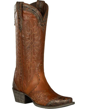 Lane Women's Double D Ramirez Western Boots, Brown, hi-res