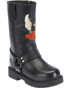 Harley-Davidson Youth Harness Boots, Black, hi-res