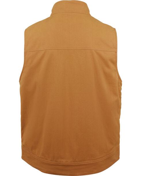 Wolverine Men's Brown Caleb Canvas Vest , Brown, hi-res