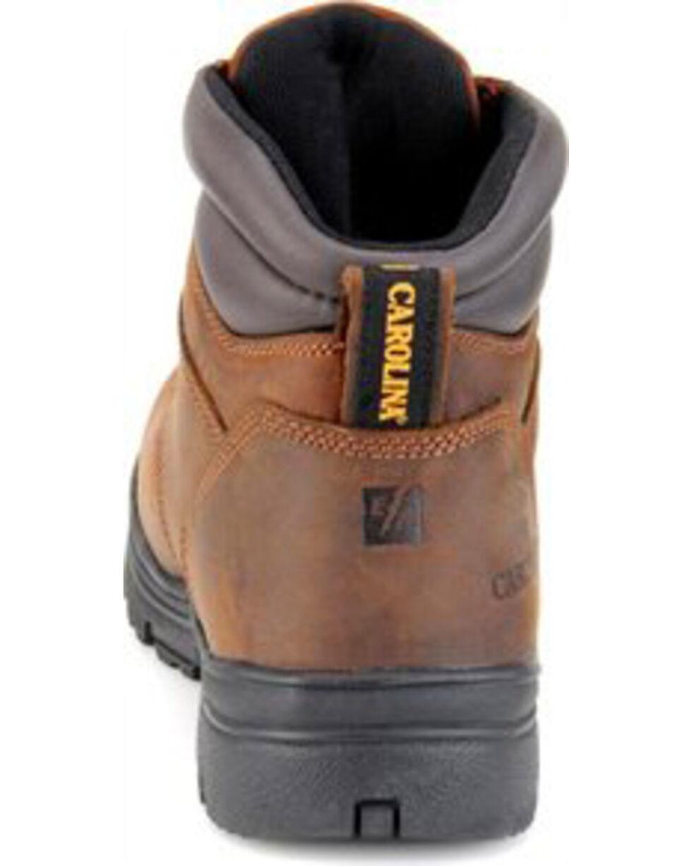 "Carolina Men's 6"" Steel Toe Waterproof Work Boots, Brown, hi-res"
