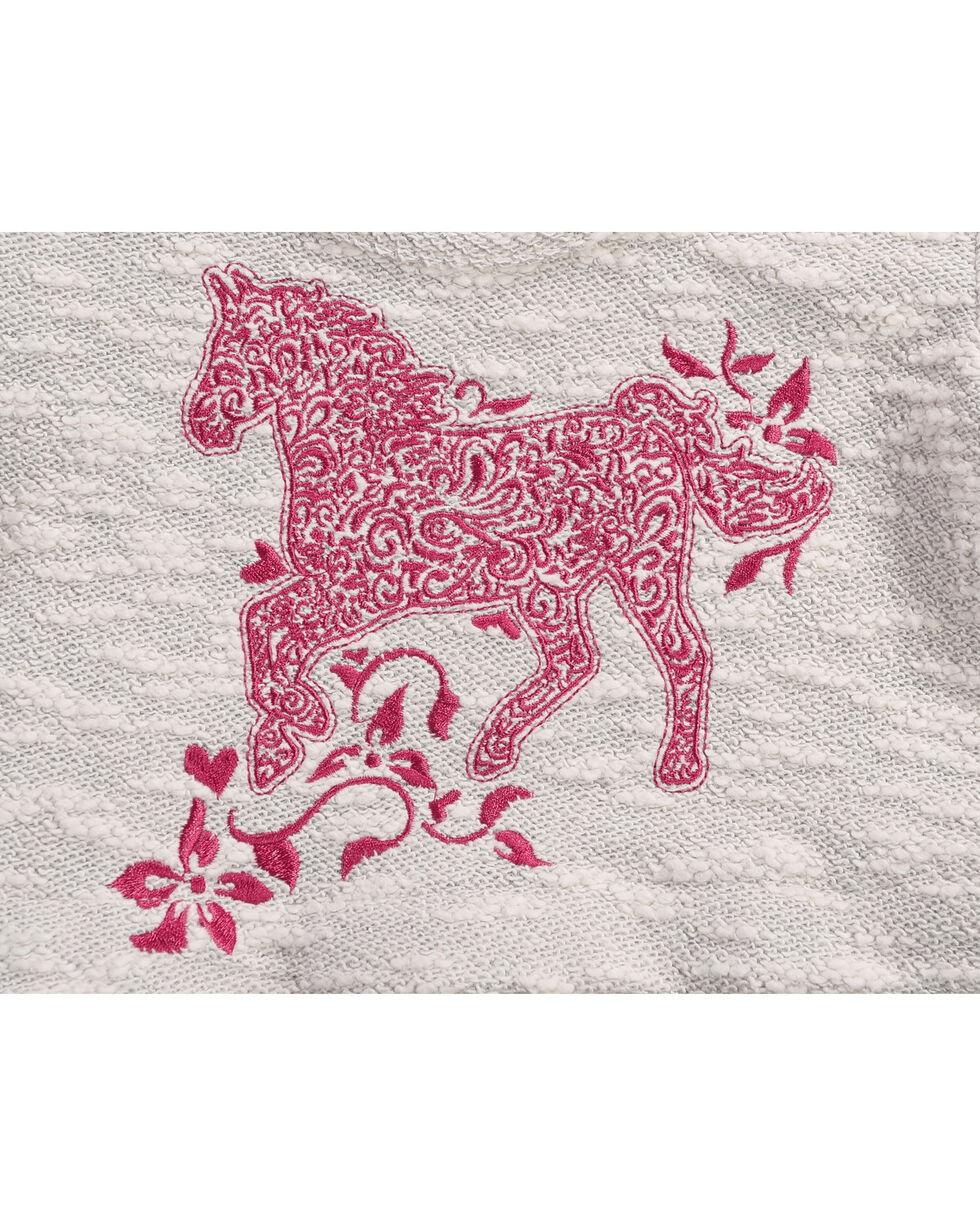 Shyanne Toddler Girls' Horse Printed Babydoll Top, Ivory, hi-res