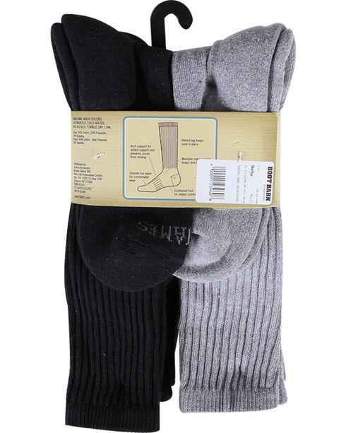Cody James® Men's Cushioned 6 Pair Boot Socks Pack, Multi, hi-res