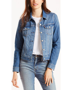 Levi's Women's Trucker Classic Jean Jacket, Blue, hi-res