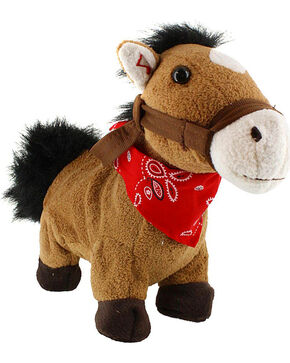 "Cuddle Barn Galloping ""Giddy Up, Lil Cowboy"" Plush Horse, Multi, hi-res"