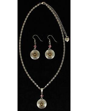 Lightning Ridge Round Horseshoe & Star Charm Necklace Set, Multi, hi-res