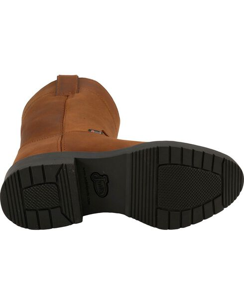 Justin Juniors Youth Western Work Boots, Aged Bark, hi-res