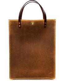 SouthLife Supply Aged Bourbon Leather Magazine Tote, , hi-res