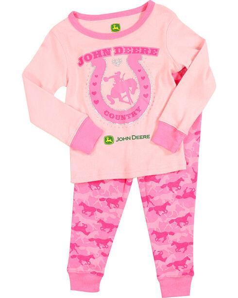 John Deere Country Girl's Toddler Pink Pajamas, Pink, hi-res