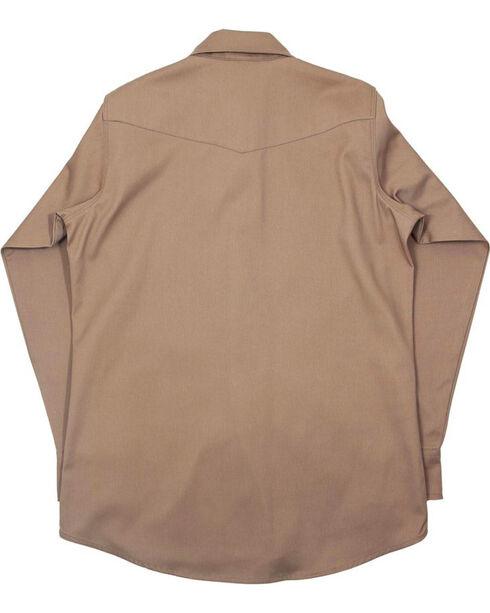 Lapco Men's Long Sleeve 7 oz. Flame Resistant Work Shirt, Beige/khaki, hi-res