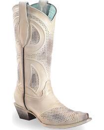 Corral Women's Laser Cut Wedding Boots - Snip Toe, , hi-res