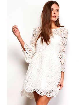 Jack Women's Eyelet Lauper Dress , Ivory, hi-res