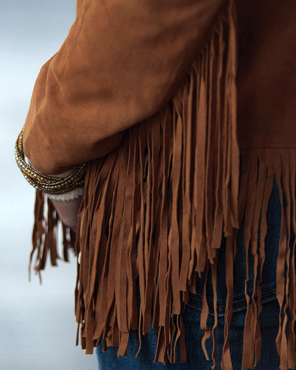 Ryan Michael Women's Fringe Leather Jacket, , hi-res