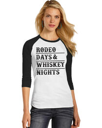 Rock & Roll Cowgirl Women's Rodeo Days Baseball Tee , , hi-res