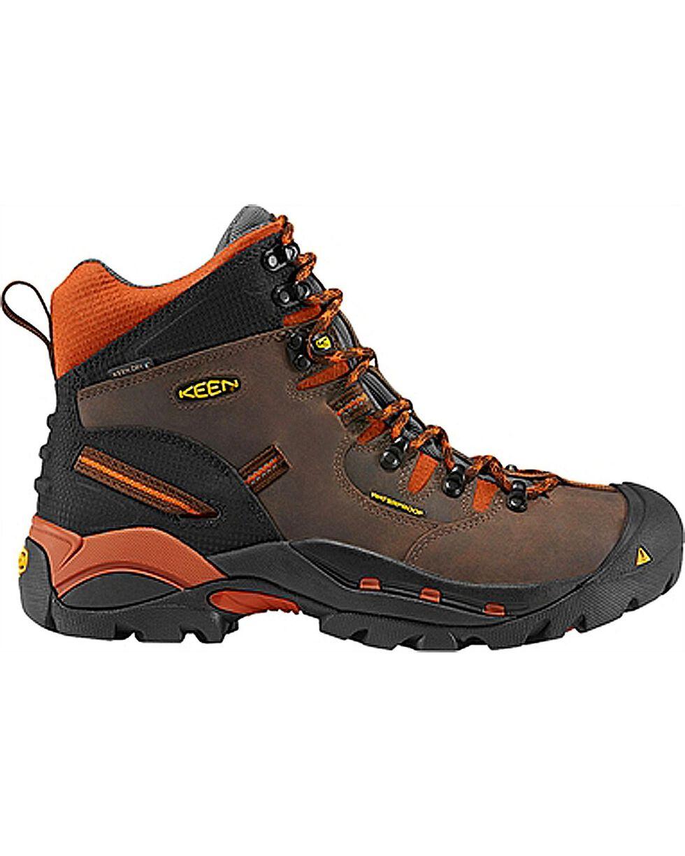 Keen Men's Pittsburgh Waterproof Soft Toe Boots, Brown, hi-res