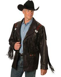 Kobler Mohawk Fringed Leather Jacket, , hi-res