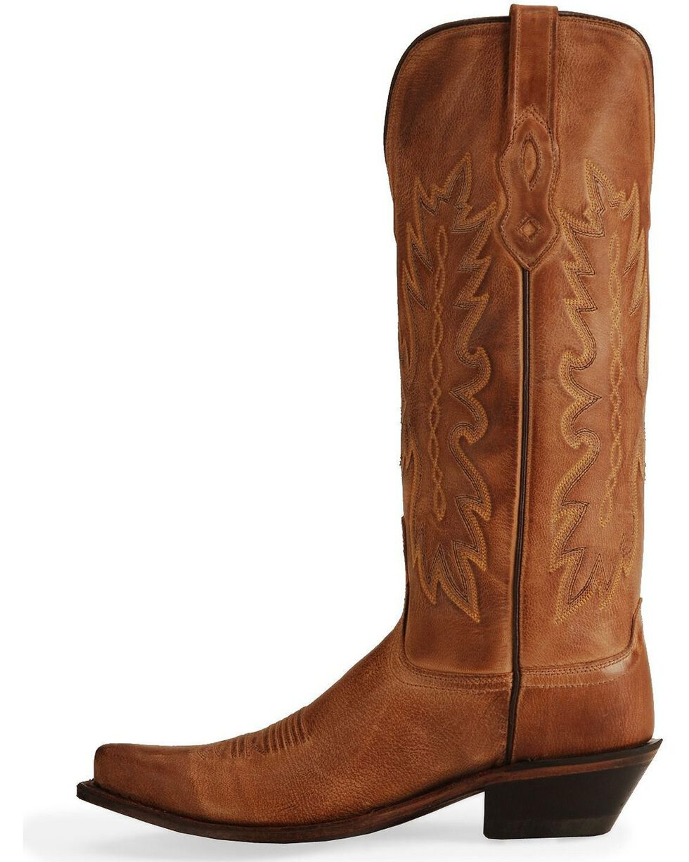 Old West Women's Snip Toe Western Boots, Tan, hi-res