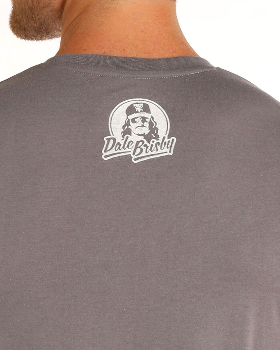 Dale Brisby Men's Grey Red, White, And Bull Tee , Grey, hi-res