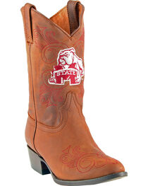 Gameday Boots Girls' Mississippi State University Western Boots - Medium Toe, , hi-res