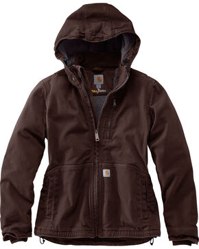 Carhartt Women's Full Swing Caldwell Jacket , Dark Brown, hi-res