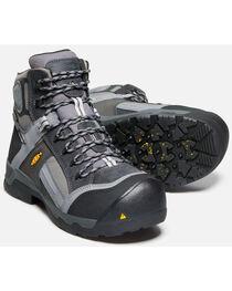 """Keen Men's Black Davenport Waterproof 6"""" Boots - Composite Toe , , hi-res"""