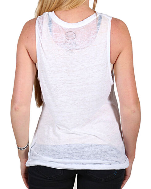 Signorelli Women's Johnny Cash Muscle Tank, White, hi-res