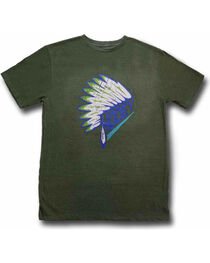 Hooey Men's First Headdress Graphic T-Shirt Olive, , hi-res