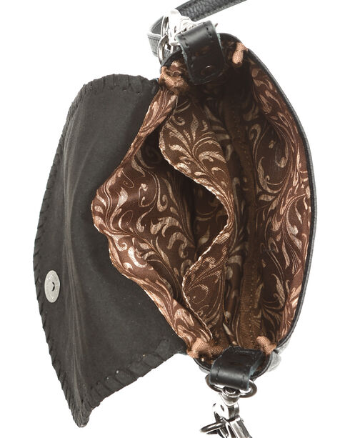 Montana West Women's Silver Studded Daisy Concho Crossbody Bag, Brown, hi-res