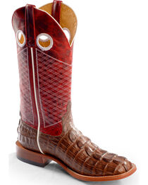 Horse Power Men's Caiman Print Western Boots, , hi-res