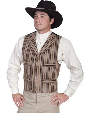 Wahmaker by Scully Four Pocket Wool Blend Vest, Tan, hi-res