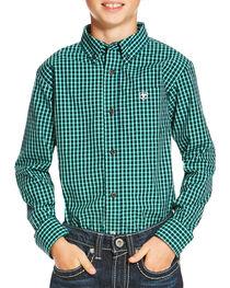 Ariat Boys' Indigo Odem Long Sleeve Shirt , , hi-res