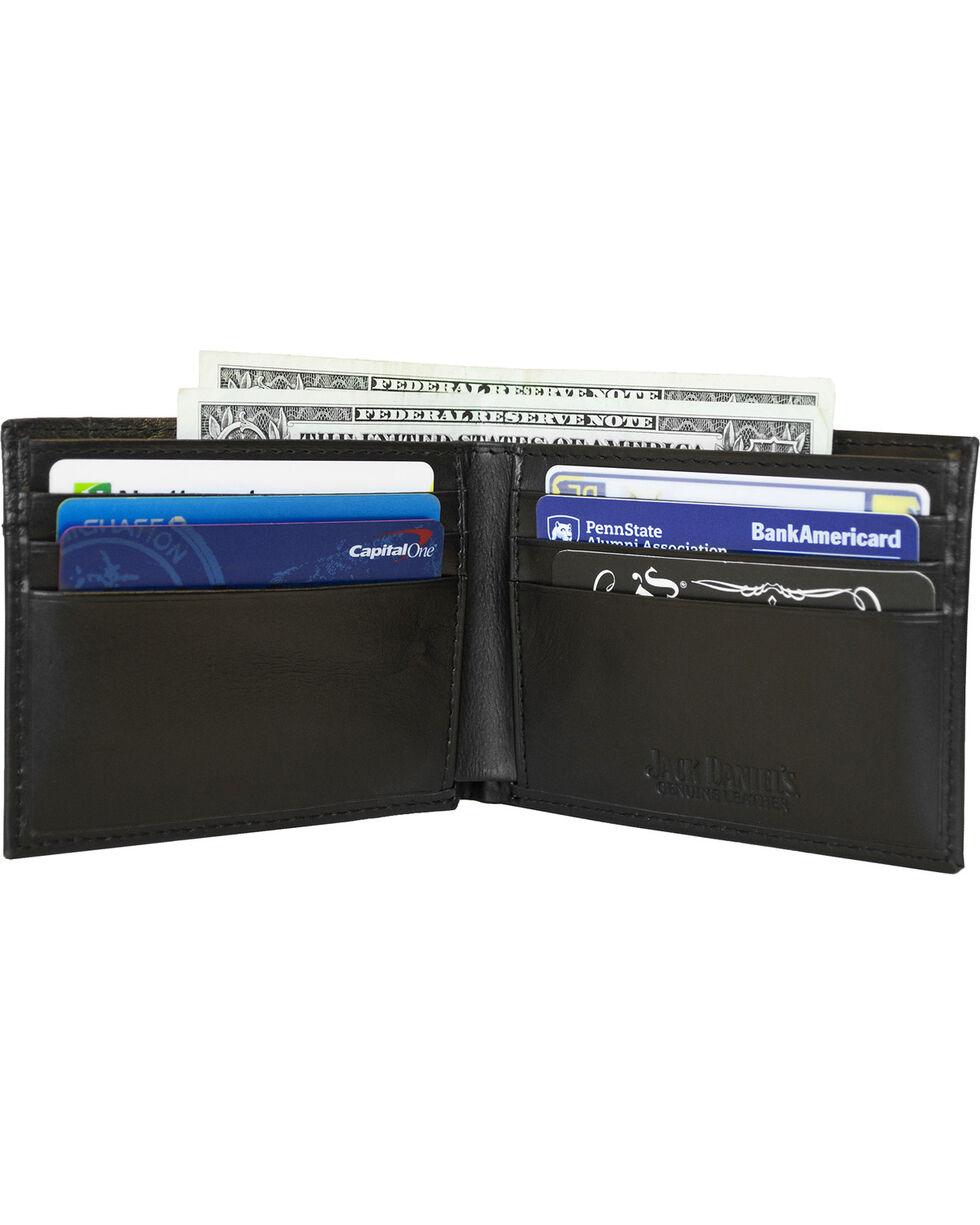 Western Express Men's Black Old #7 Leather Billfold Wallet , Black, hi-res