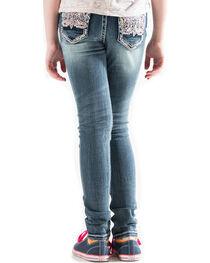 Grace in LA Girls' Indigo (7-16) Embellished Pocket Jeans - Skinny , , hi-res