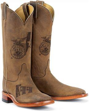 Justin Women's FFA Western Boots, Tan, hi-res