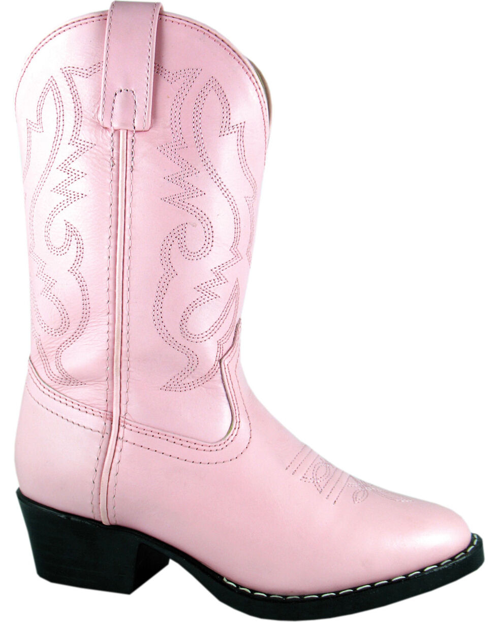 Smoky Mountain Toddler Girls' Denver Western Boots - Round Toe, Pink, hi-res