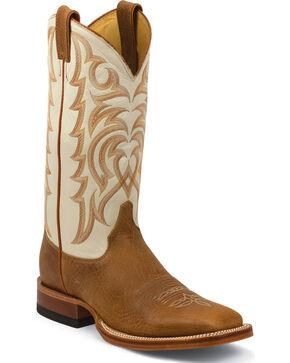 Justin Men's Delta Western Boots, Cognac, hi-res