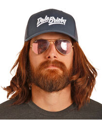Rock & Roll Cowboy Men's Dale Brisby Navy Mesh Back Trucker Cap, , hi-res