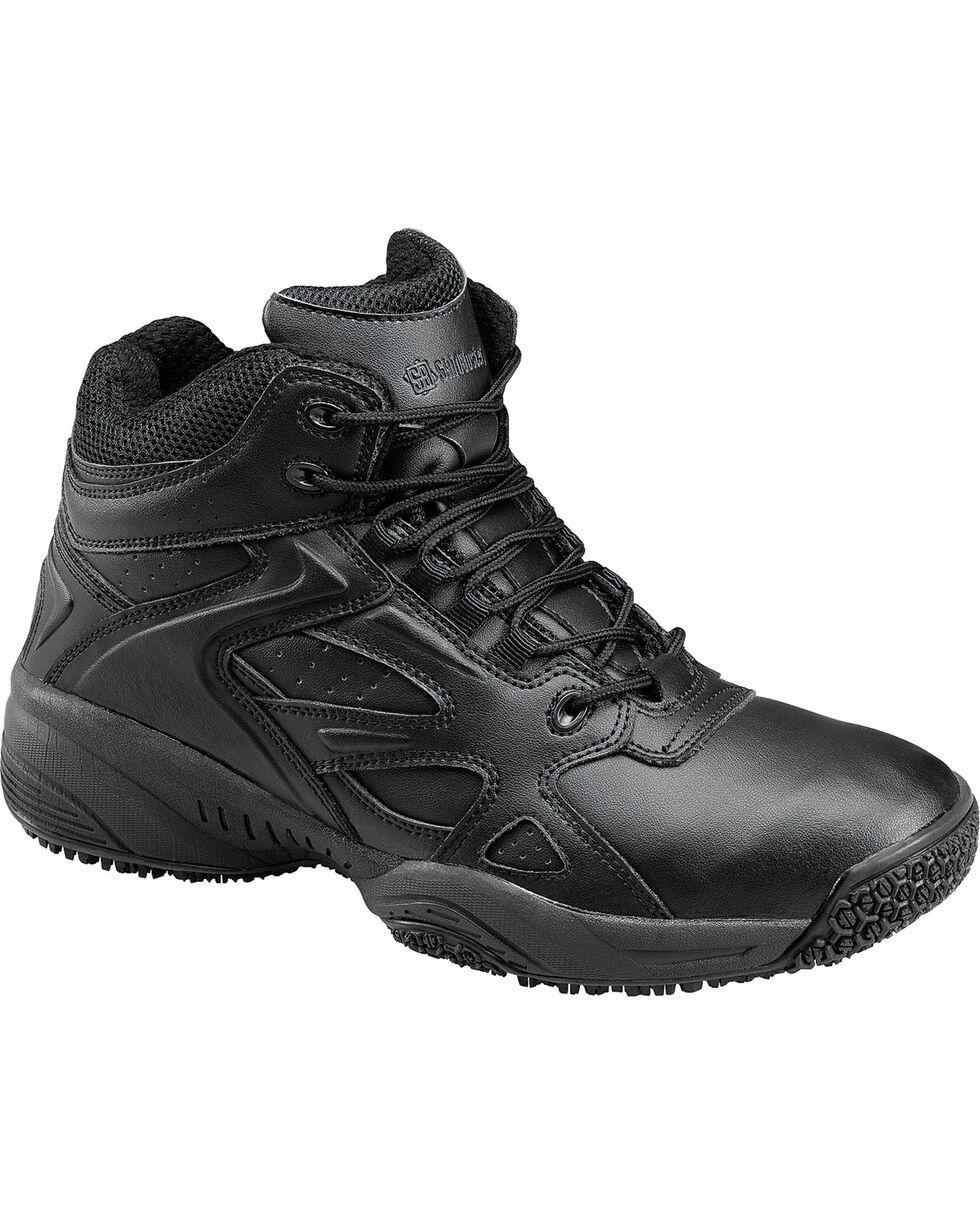 SkidBuster Men's Slip Resistant High Top Work Shoes, Black, hi-res