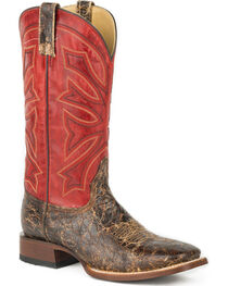 Stetson Men's Red Gunsmoke Western Boots - Square Toe , , hi-res
