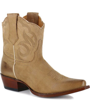 Shyanne® Women's Snip Toe Western Booties, Tan, hi-res