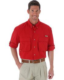 Wrangler Men's ProGear® Long Sleeve Angler Shirt, , hi-res