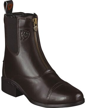Ariat Women's Heritage III Zip Paddock Boots, Chocolate, hi-res