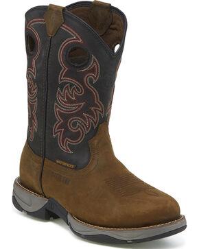 Tony Lama Men's Junction Brown Waterproof Western Work Boots - Steel Toe, Brown, hi-res
