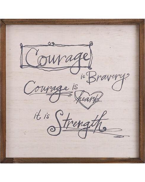 Demdaco Cream Poetic Threads Courage Plaque , Cream, hi-res