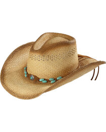 Bullhide Women's You Are Easy On The Eyes Straw Hat, , hi-res