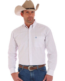 Wrangler Men's George Straight Long Sleeve Shirt, , hi-res